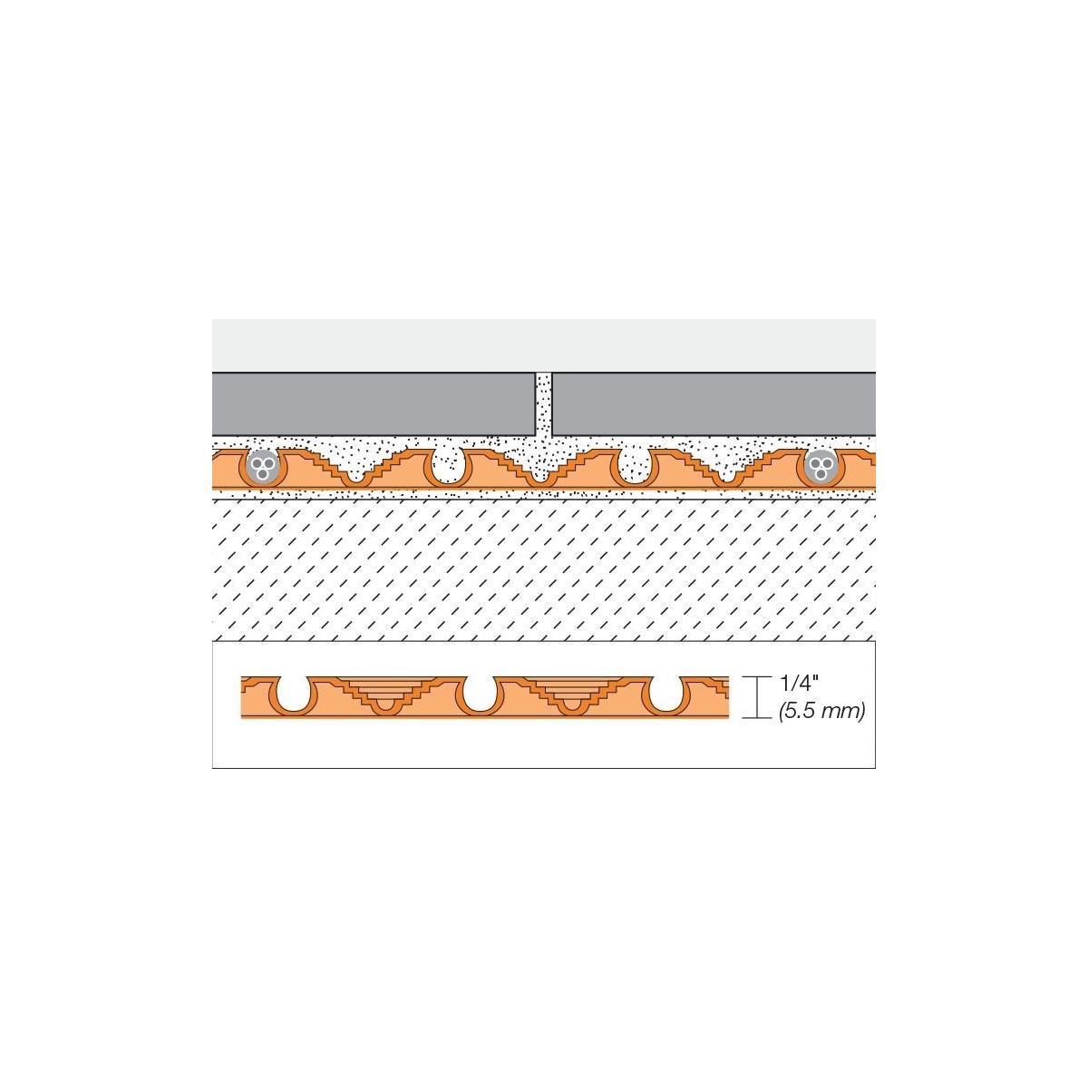Suelo radiante mediante electricidad y termostato digital regulable y programable, con aislamiento Schüter Systems