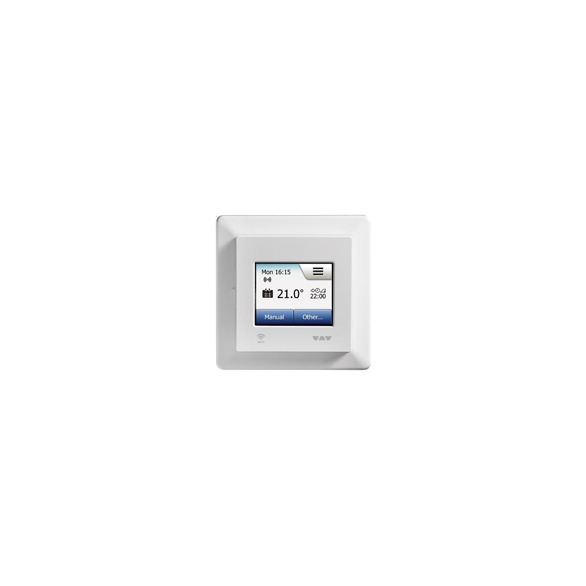 Suelo radiante mediante electricidad y termostato digital regulable y programable wifi, con aislamiento