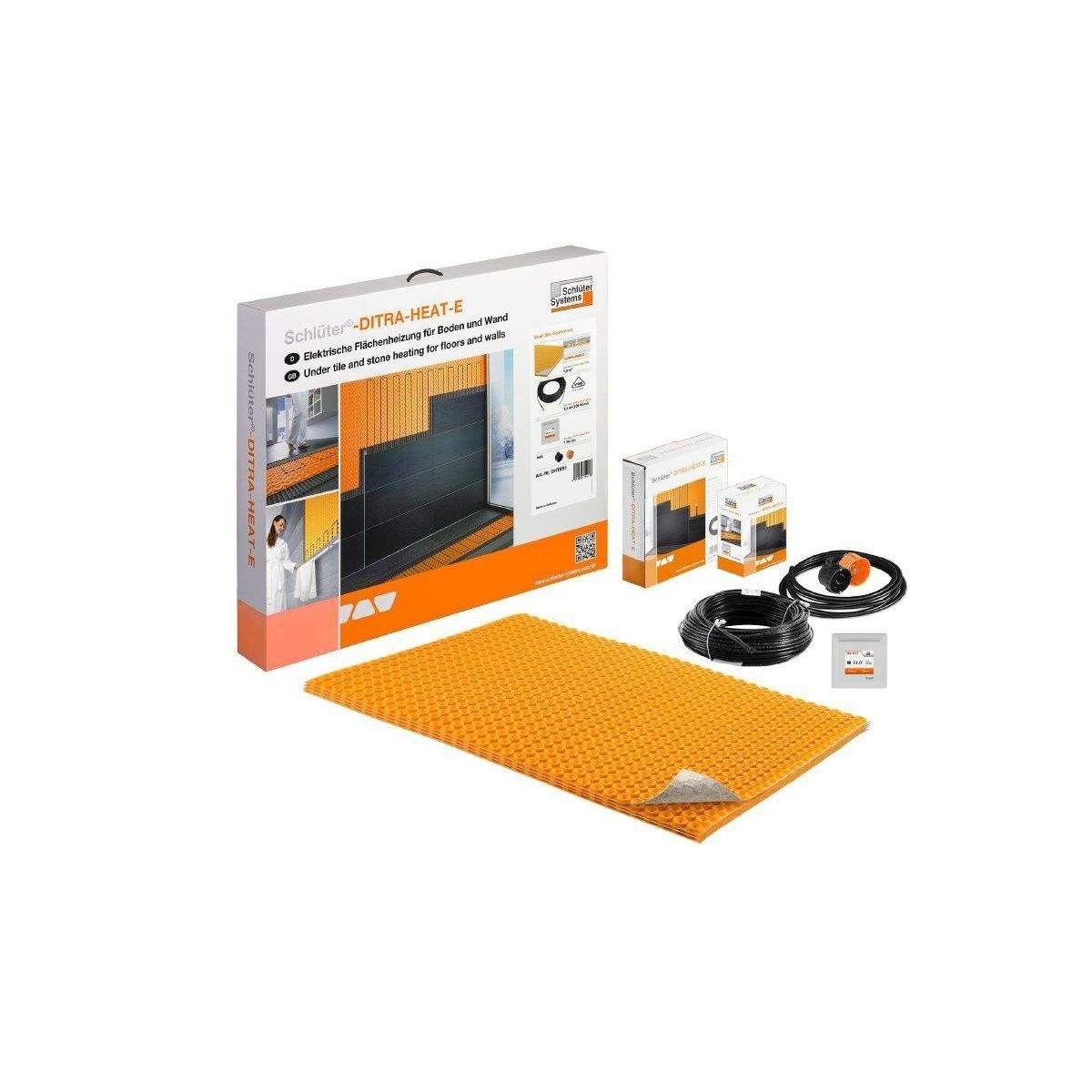 Kit de suelo radiante con termostato táctil con aislamiento bajo lámina y wifi Schüter Systems