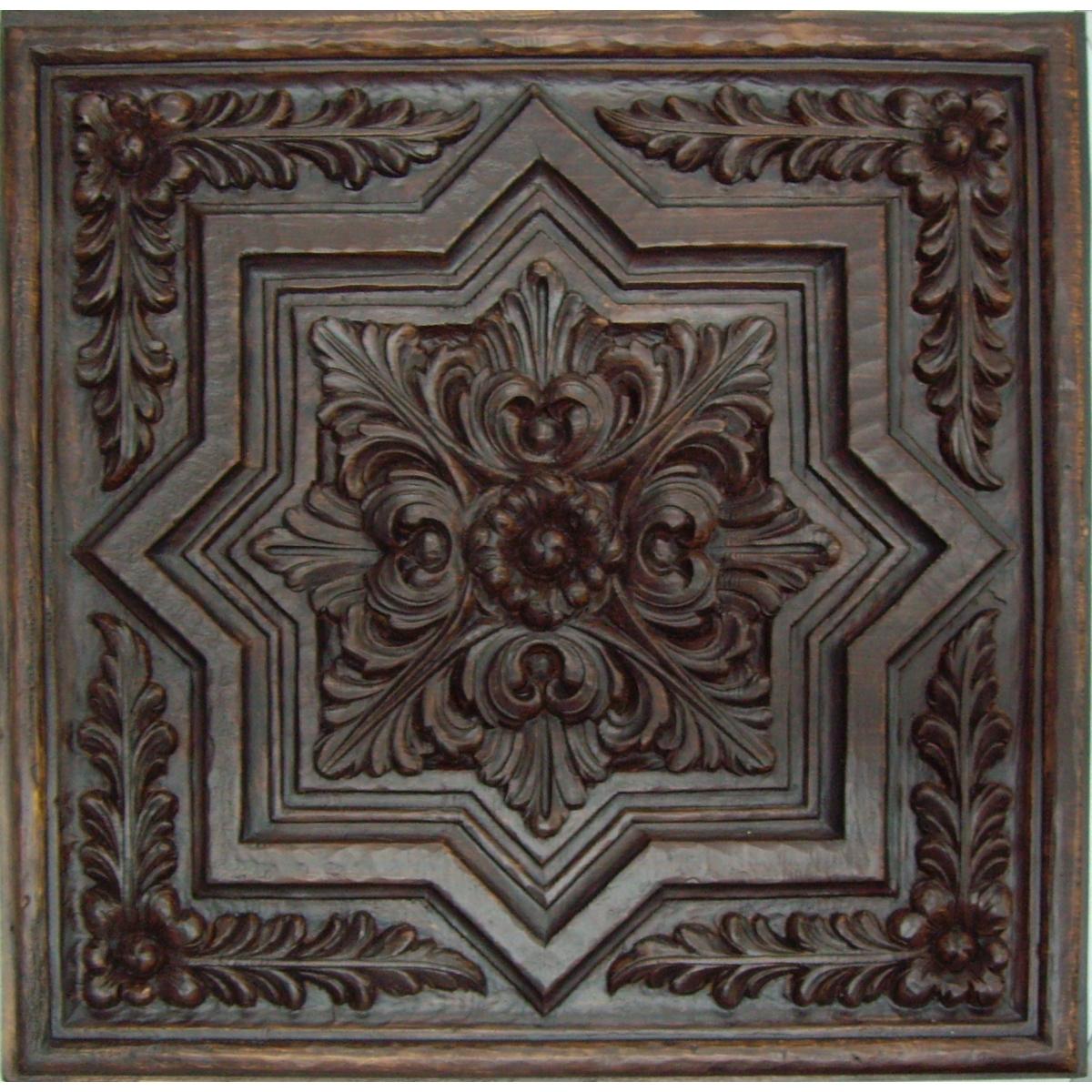 Plafón rústico imitación a madera 50x50 cm