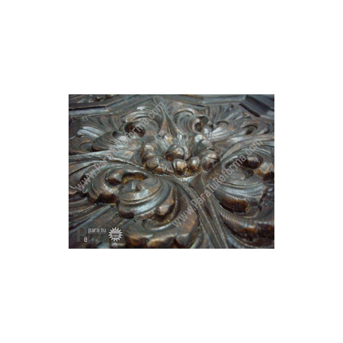 Grupo Unamacor Plafón rústico imitación a madera 50x50 cm