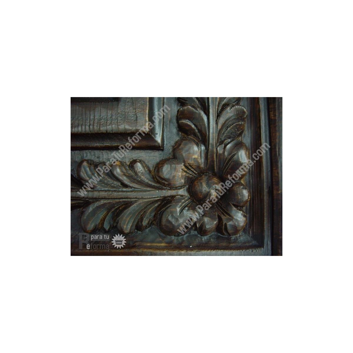 Plafón rústico imitación a madera 50x50 cm Plafones imitación madera de poliuretano