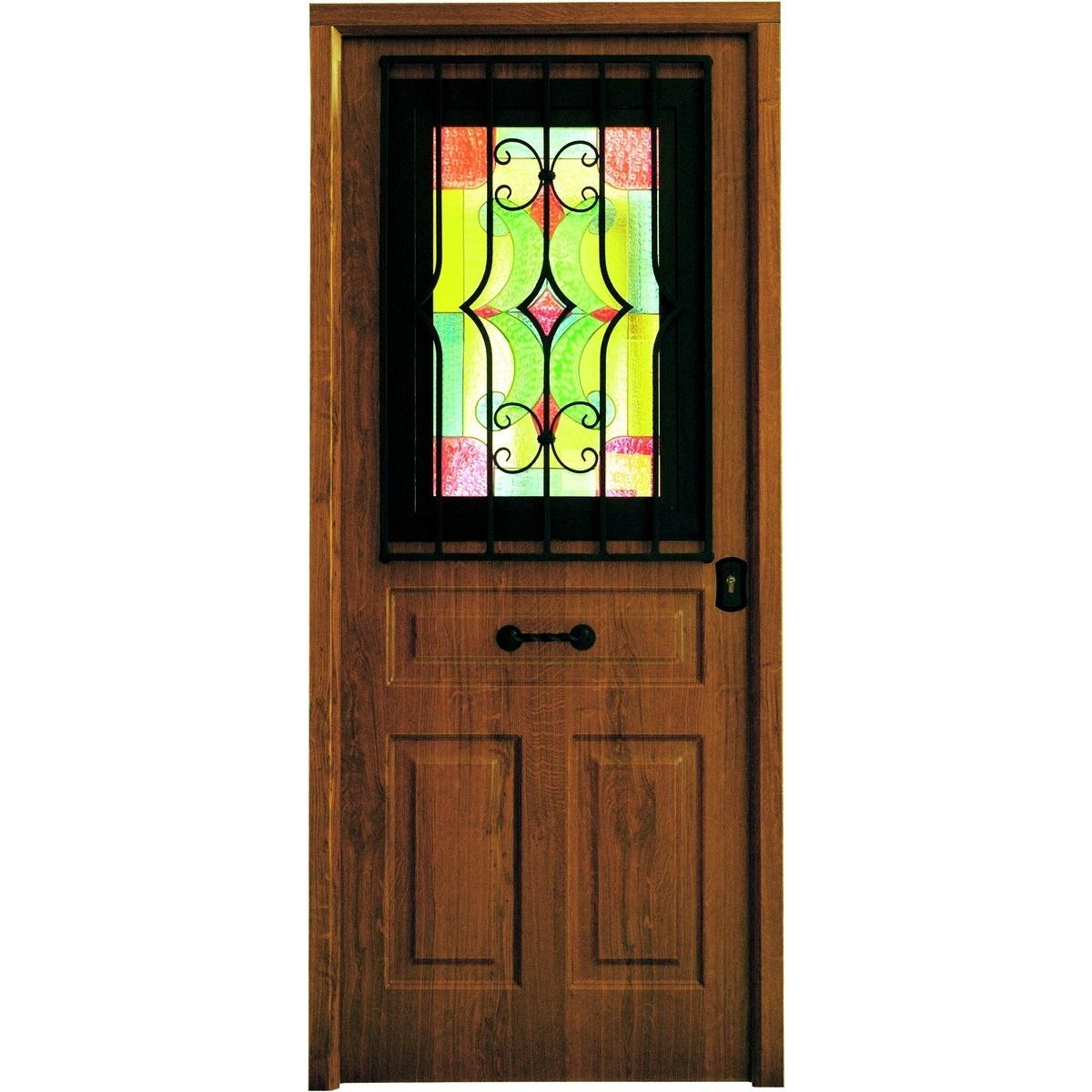 Puerta acorazada Antique con ventana