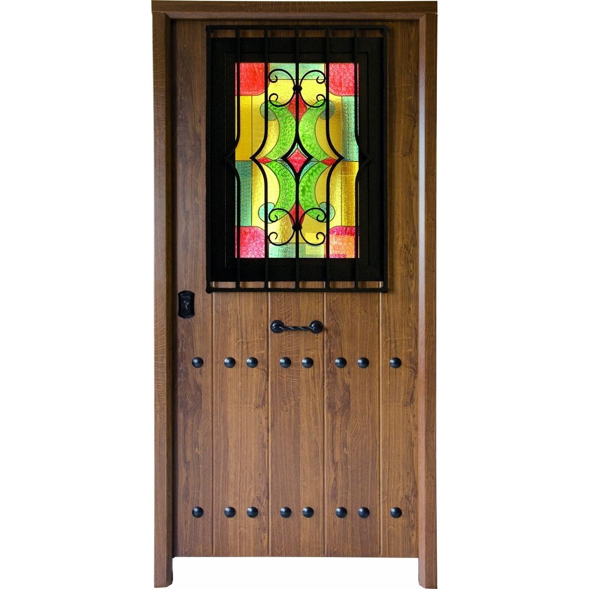 Puerta acorazada Triana con ventana