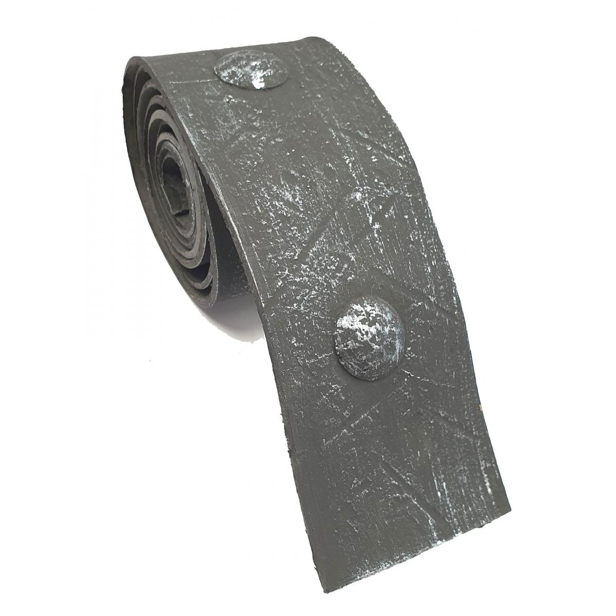 Rollo de unión imitación a forja 8 cm ancho plata vieja