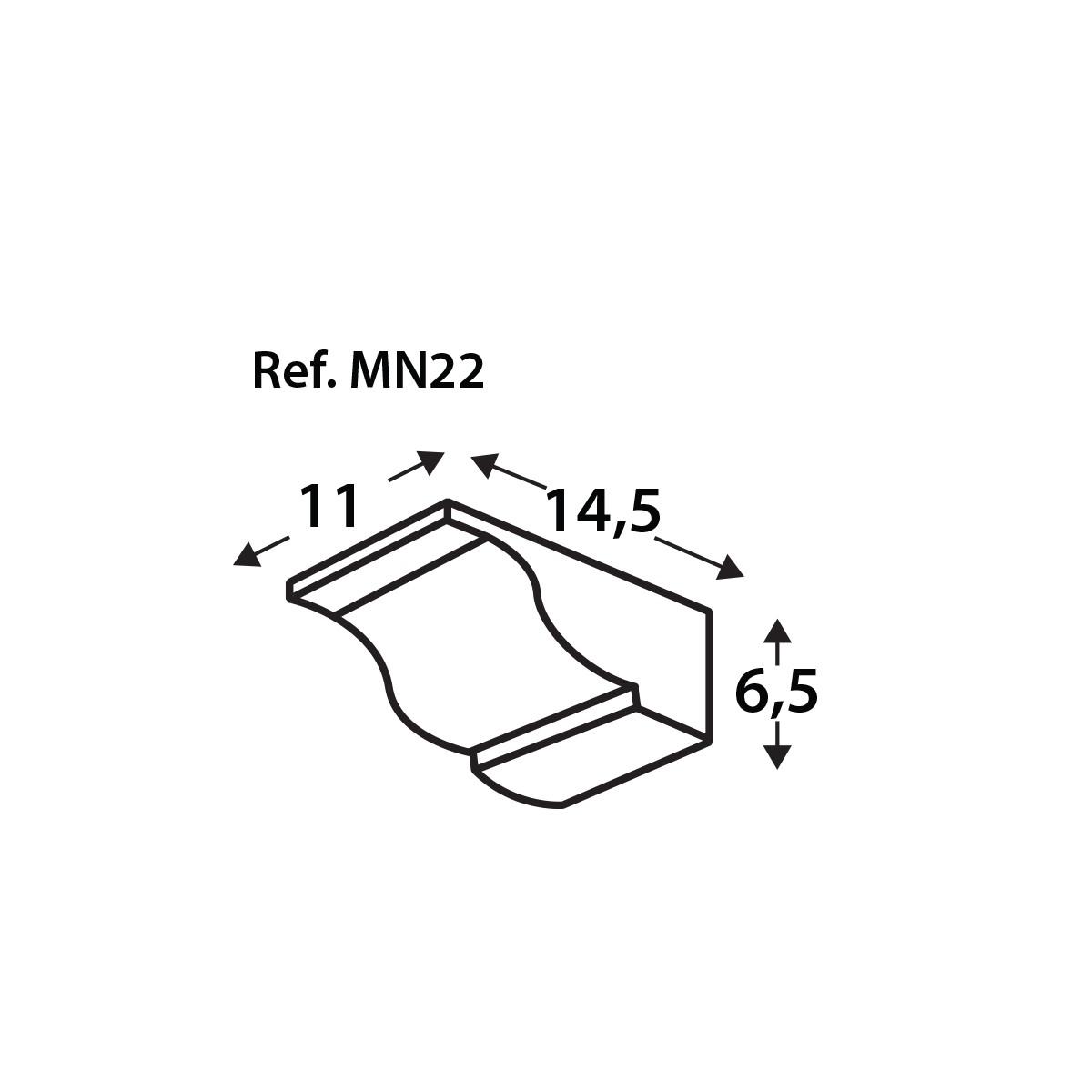 Ménsula MN22 - Ménsulas imitación madera de poliuretano - Marca Grupo Unamacor