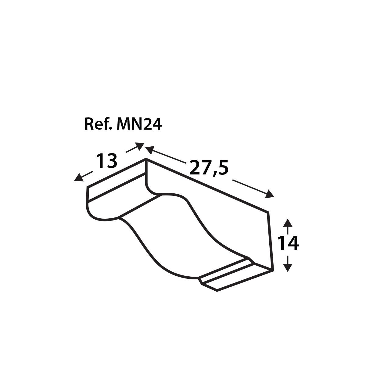 Ménsula MN24 - Ménsulas imitación madera de poliuretano - Marca Grupo Unamacor