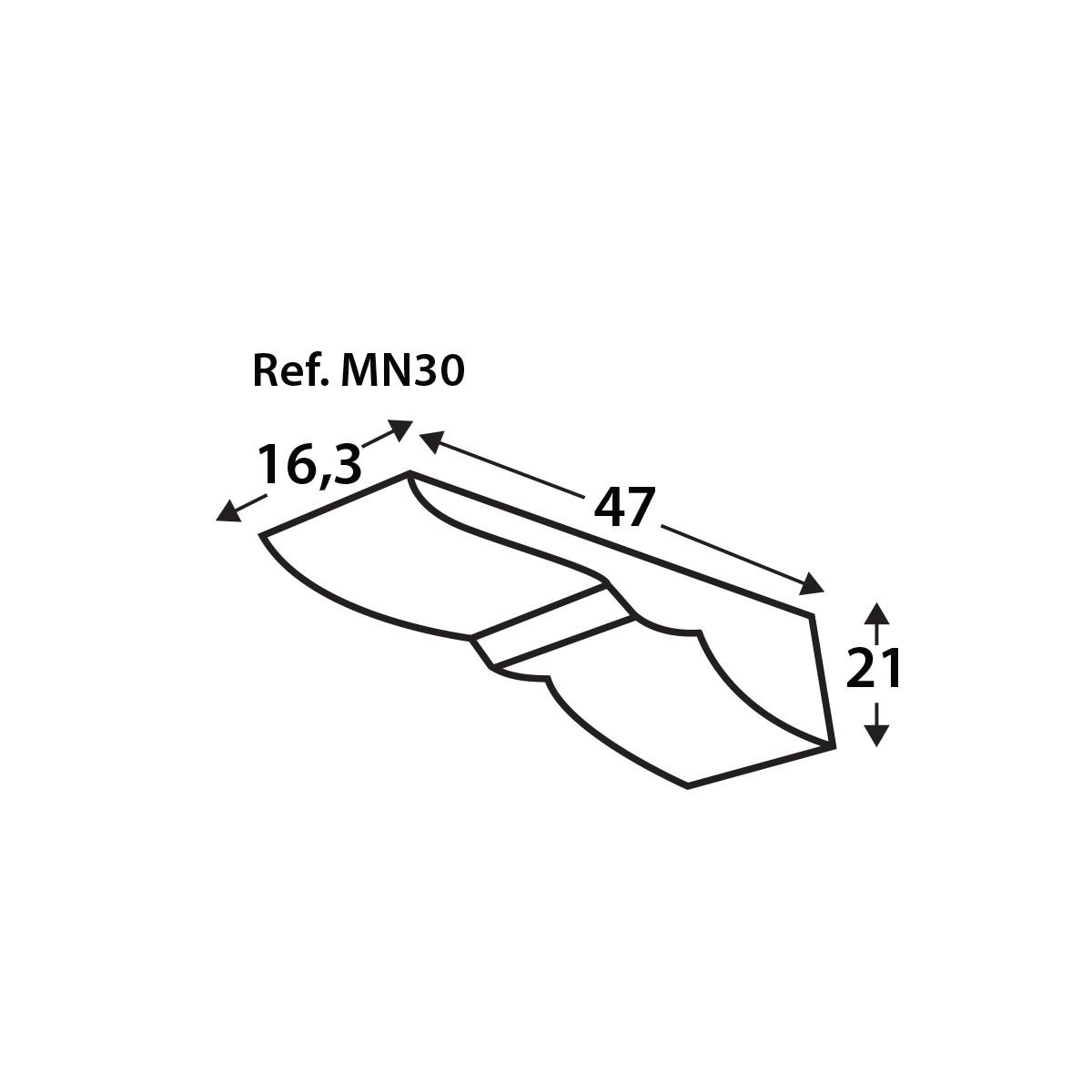 Ménsula MN30 - Ménsulas imitación madera de poliuretano - Marca Grupo Unamacor