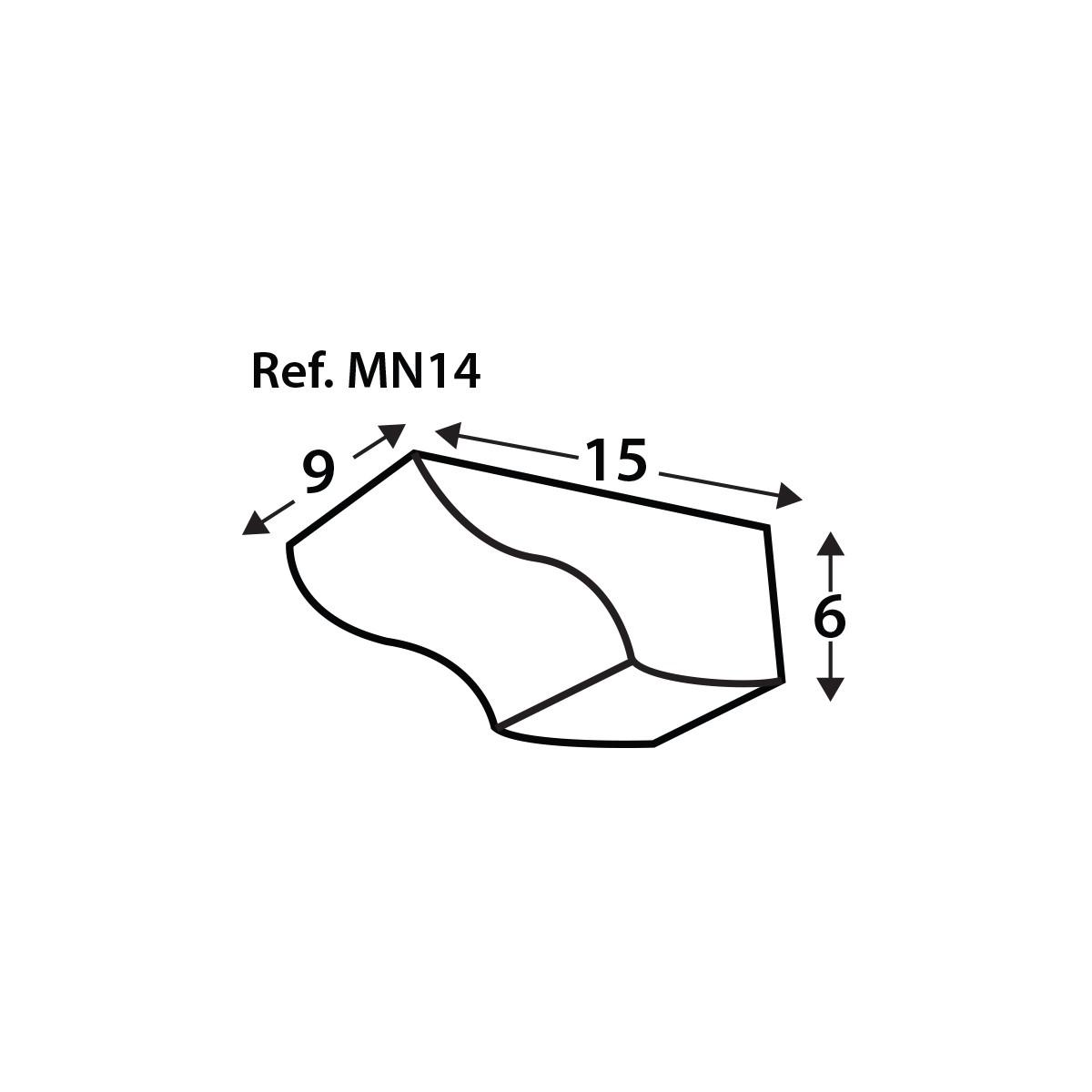 Ménsula MN14 - Ménsulas imitación madera de poliuretano - Marca Grupo Unamacor