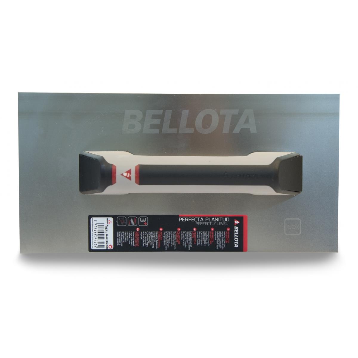 Llana recta de acero inoxidable - Herramientas manuales para la construcción - Marca Bellota