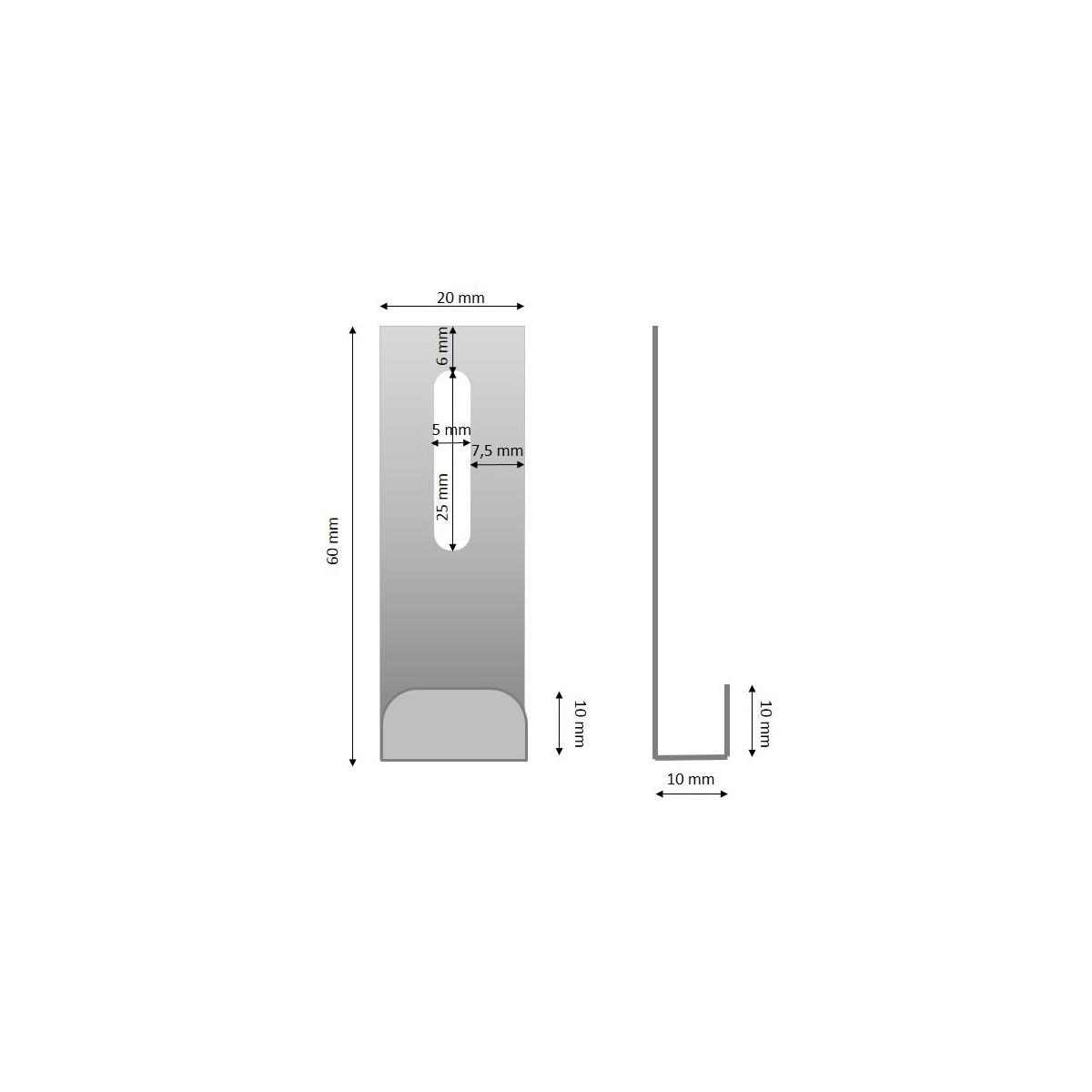 Grupo Unamacor Anclaje de arranque 60x10 (oculto)