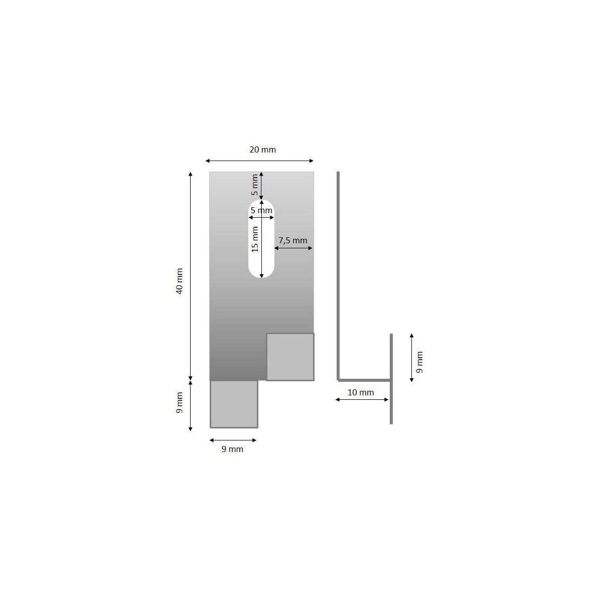 0 Anclaje intermedio 40x10 (oculto)