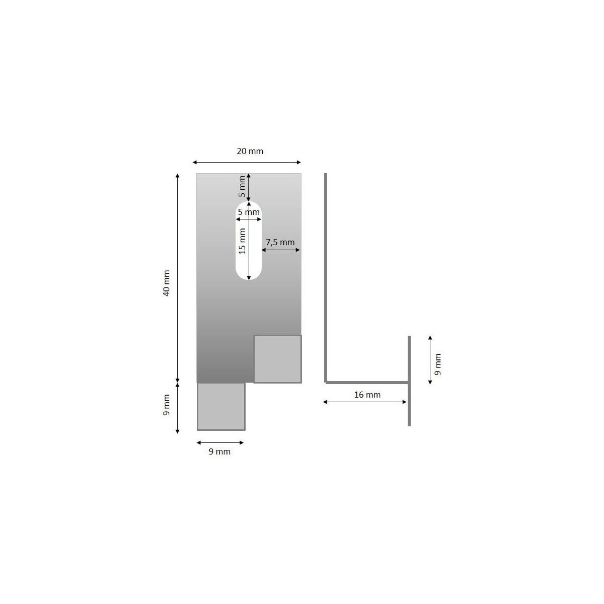 0 Anclaje intermedio 40x16 (visto)