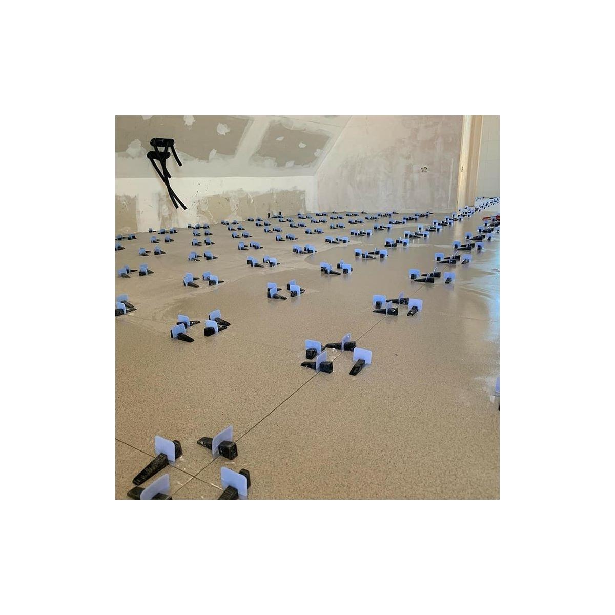 Calzos o Bases de 0,5mm para el sistema de Peygran en bolsa de 300 unidades. Fácil colocacion. Evita escalones en tus baldosas.