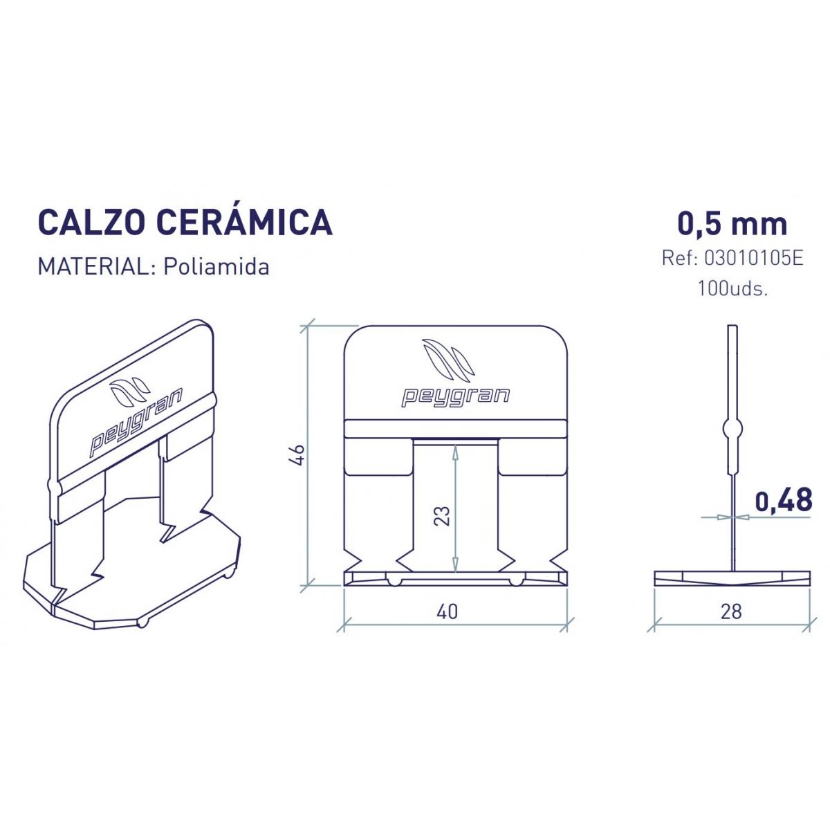 Peygran Calzo de Peygran de 0,5 mm (Bolsa de 300 unidades)