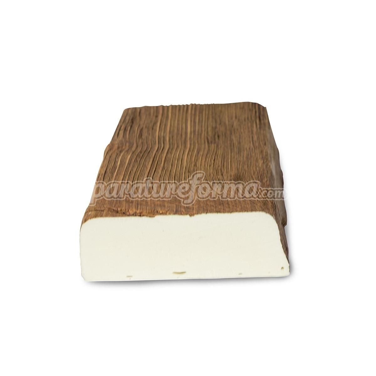 Viga maciza 300x12,5x4 imitación madera Vigas imitación madera cuadradas