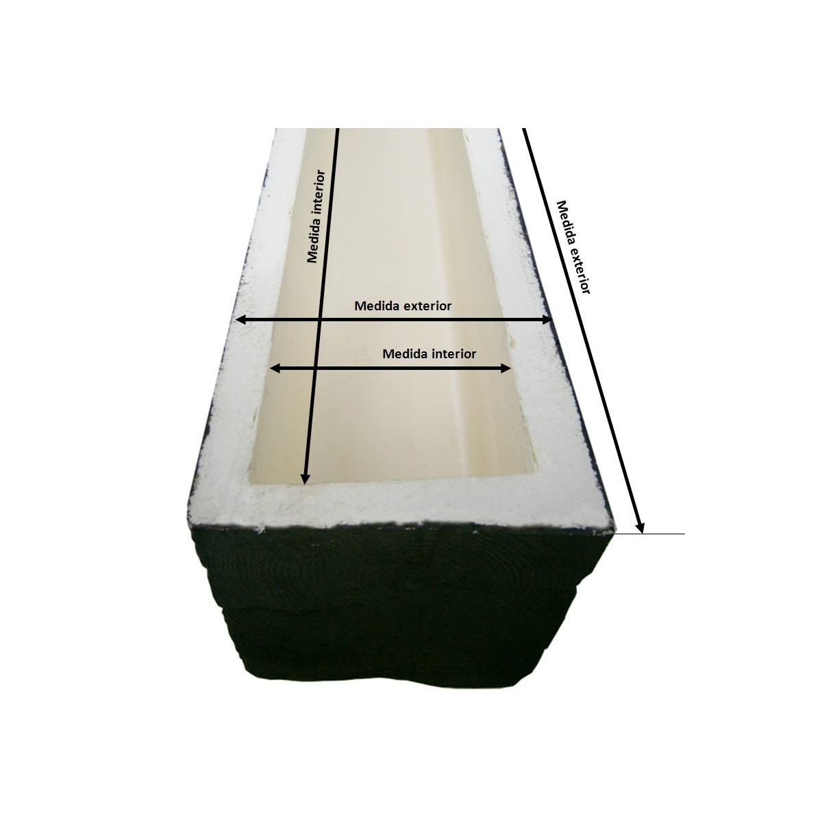 Viga imitación a madera 300x23x18 Grupo Unamacor Vigas imitación madera cuadradas