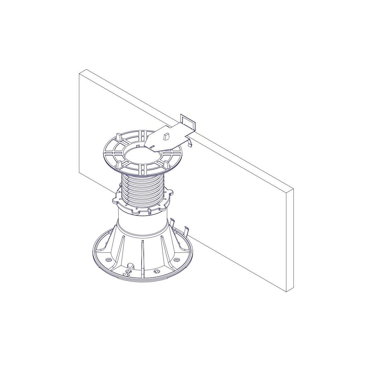 Cerramiento vertical para suelo flotante