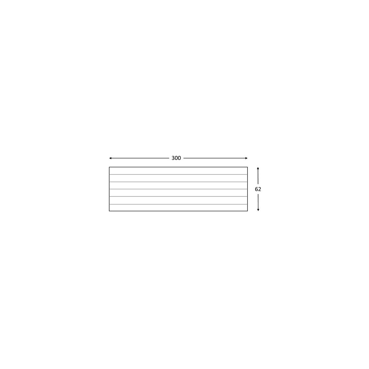 Grupo Unamacor Panel rústico de seis lamas imitación madera de 300x62cm
