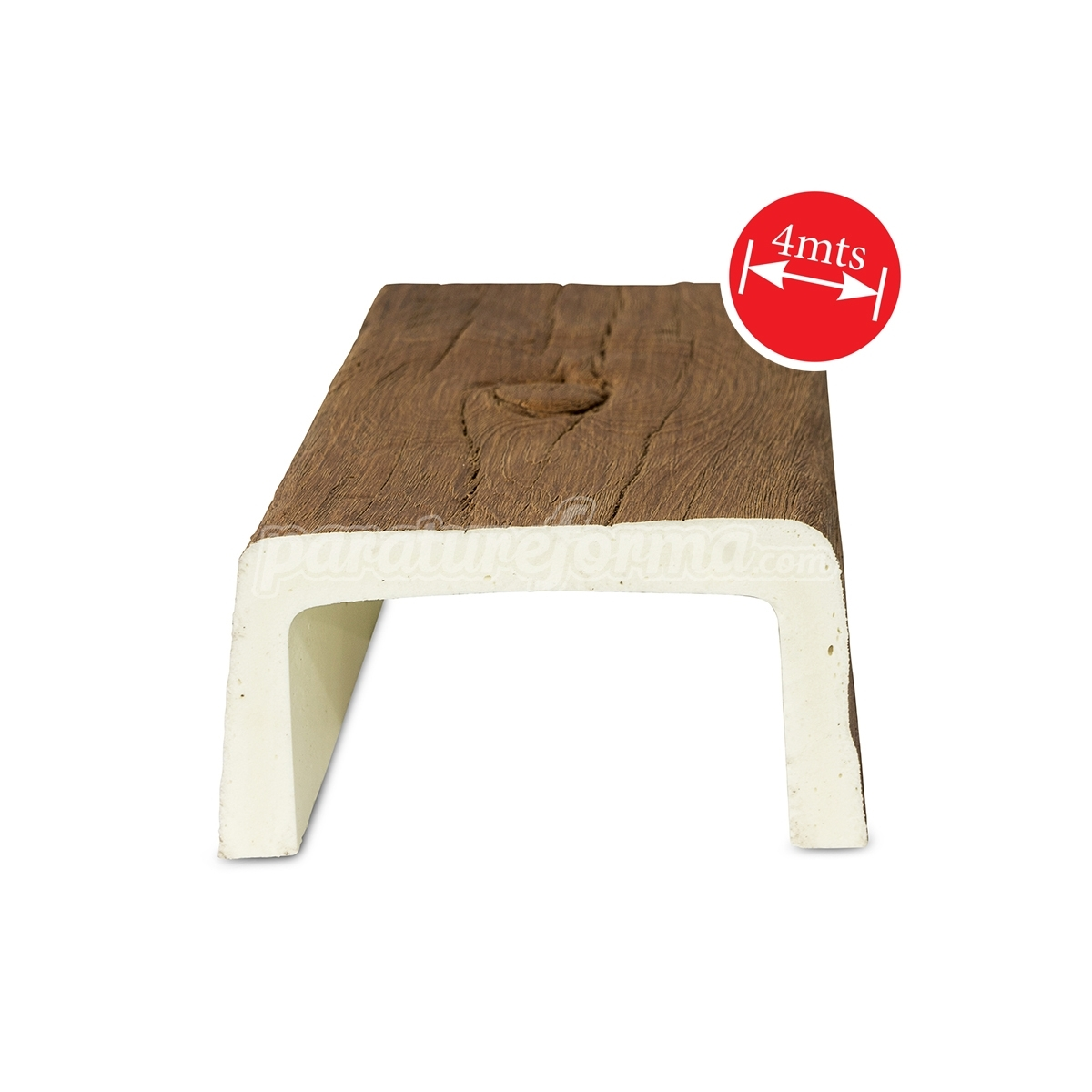 Grupo Unamacor Viga 400x14,5x8 imitación madera
