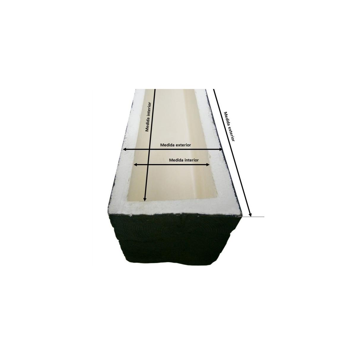 Detalle de Viga 200x10x10 imitación madera