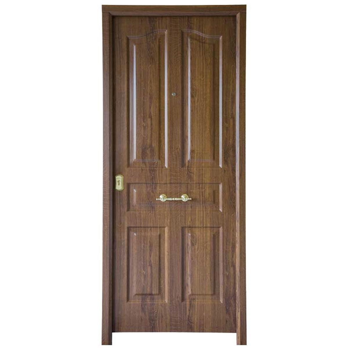 Puerta acorazada Antique Castaño Rustico - Puertas acorazadas Serie B4-BL