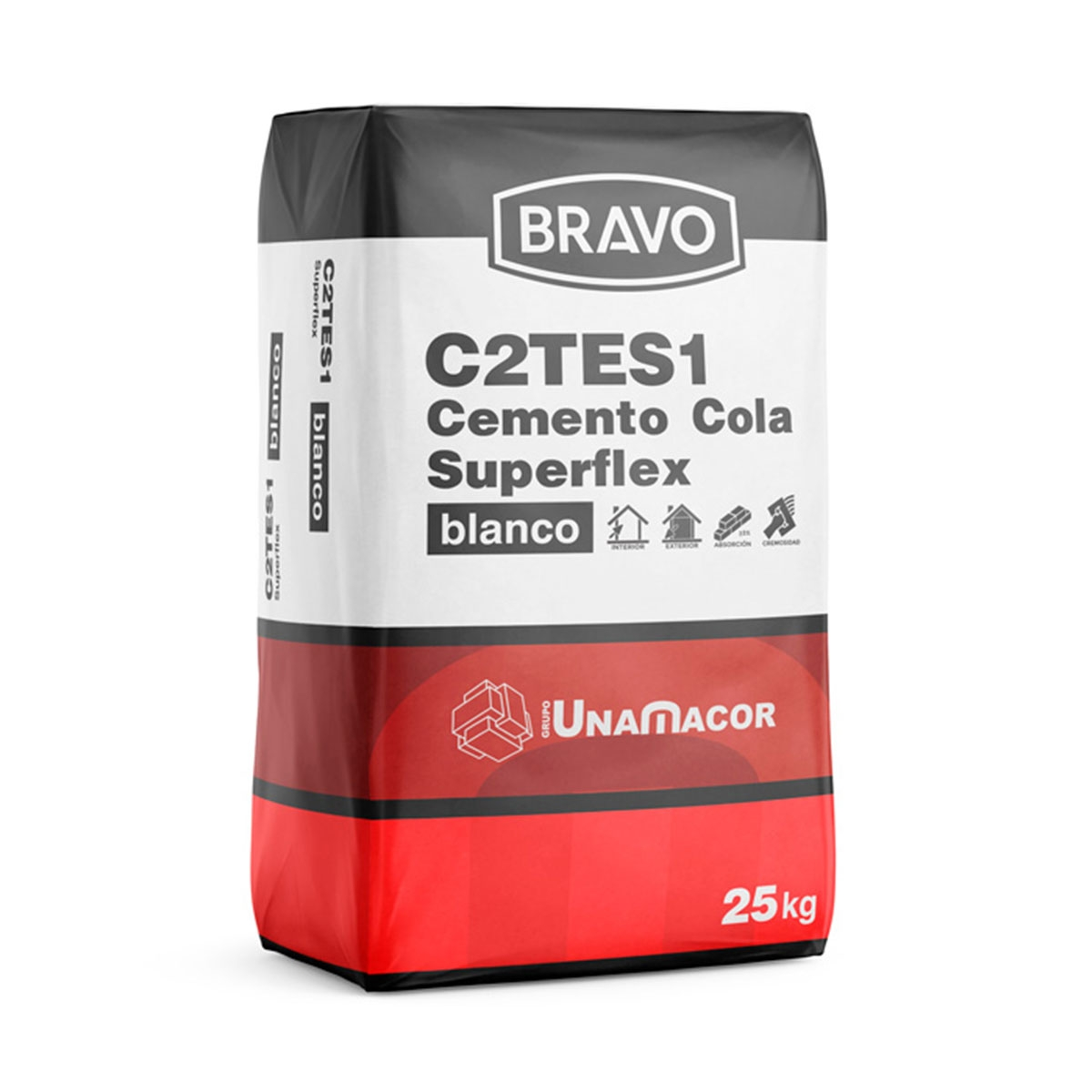 Cemento cola Flex Blanco 25 Kg C2TES1