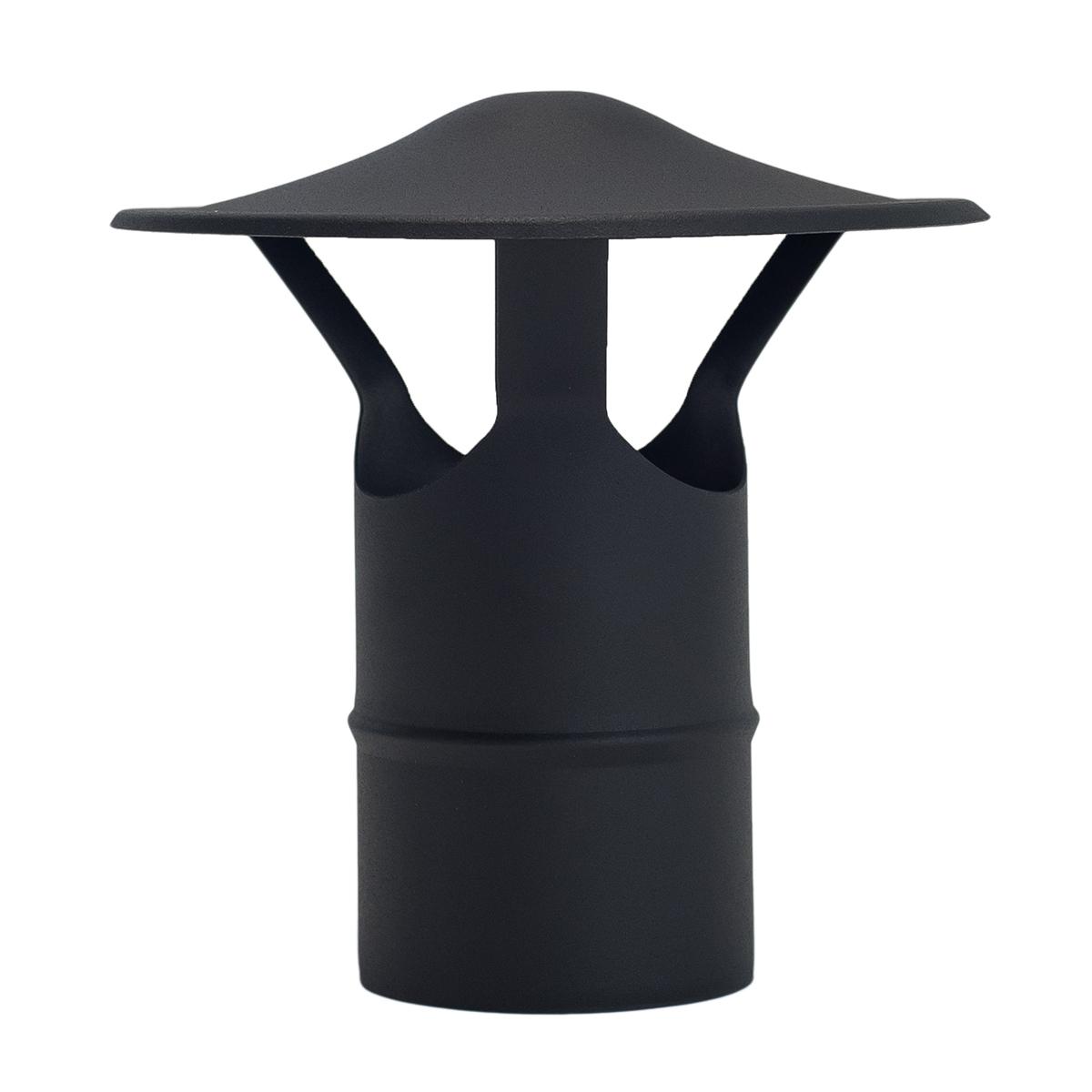 Sombrerete chino vitrificado negro mate