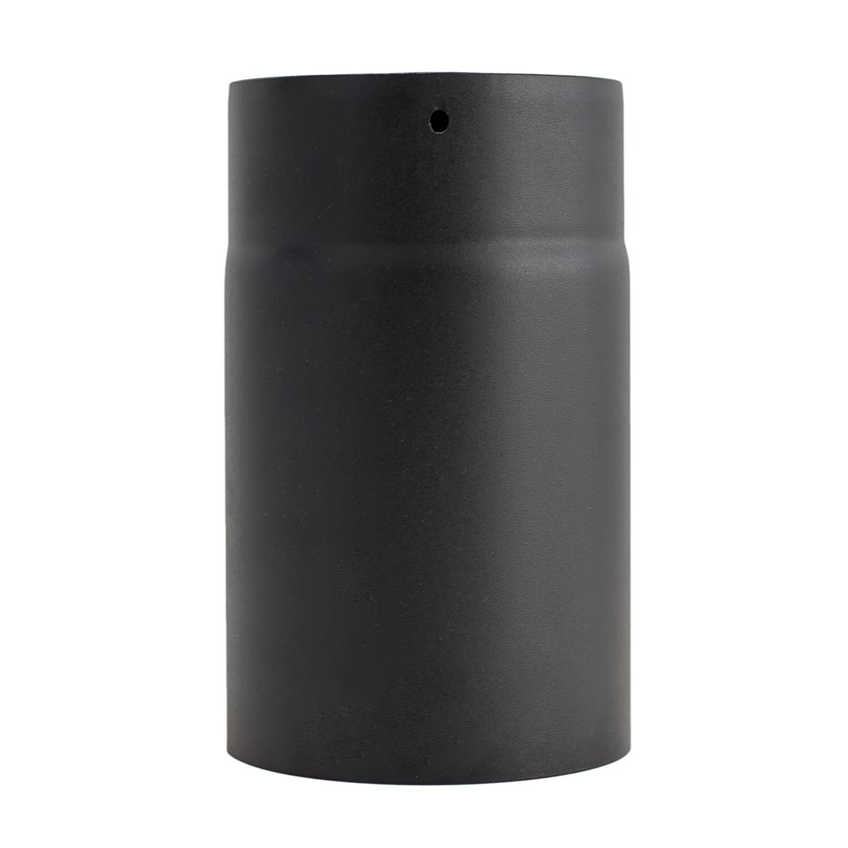 Tubo 25cm vitrificado negro mate