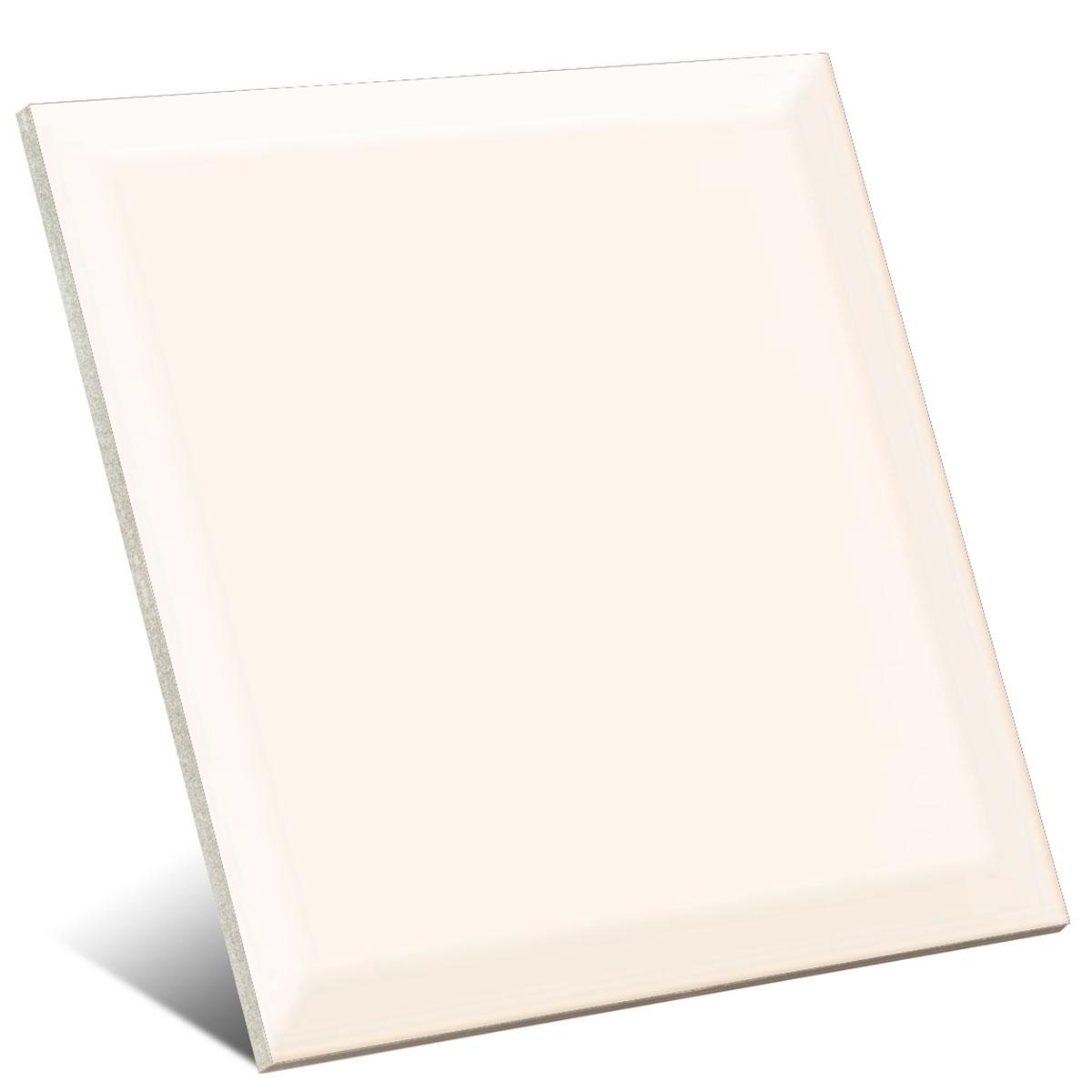 Blanco biselado brillo 20x20 cm (caja 1 m2)