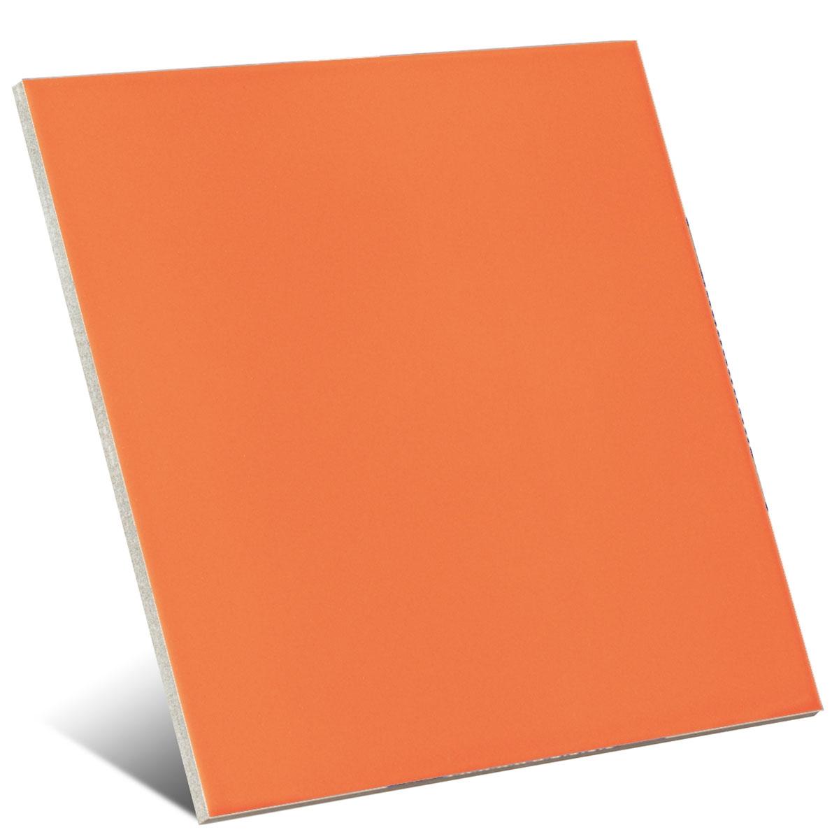 Color naranja mate 20x20 cm (caja 1 m2)