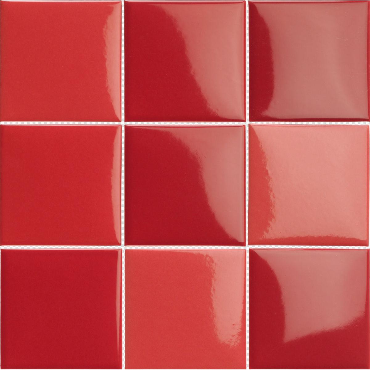 Pool Porcelánico Rojo en malla