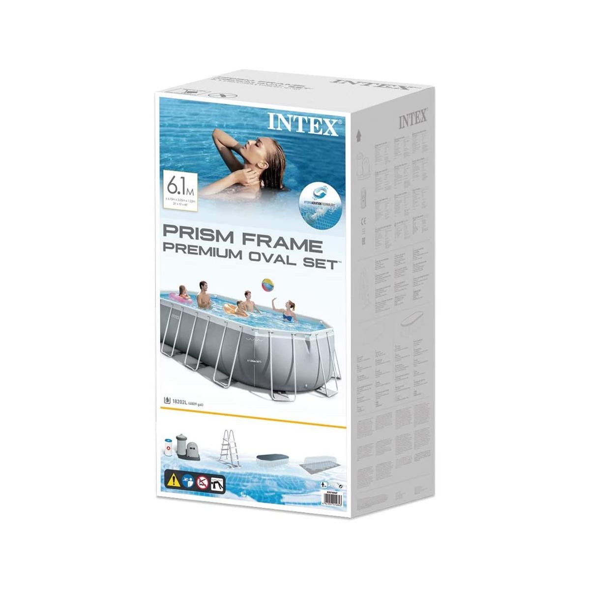 Piscina Intex Prisma Frame Oval 610x305x122