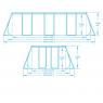 Medidas Piscina Desmontable Tubular Power Steel BESTWAY 56456