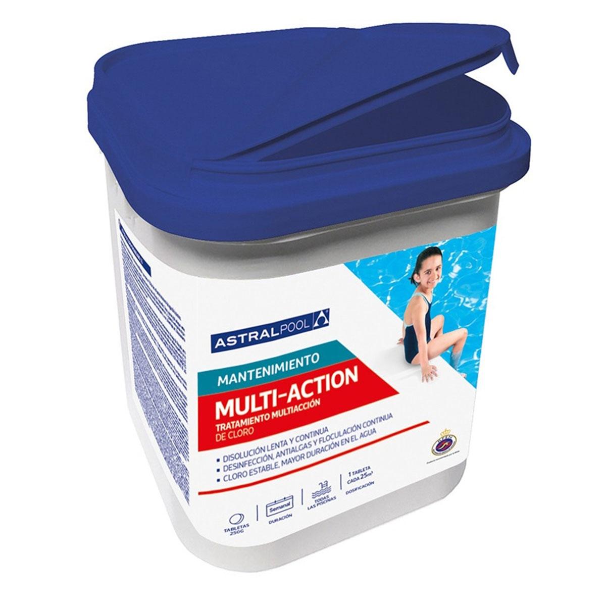 Cloro Multi-Acción 5kg - Limpieza de piscinas - Marca Astralpool