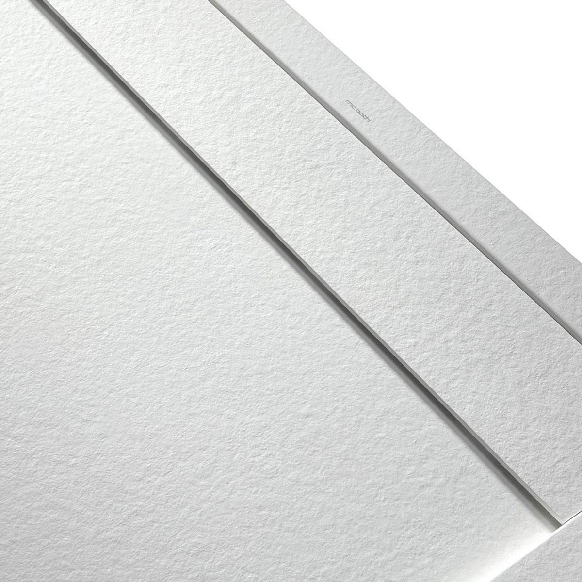 Plato de ducha rectangular 120x80 Andrómeda Stone Cover Perla
