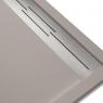 Plato de ducha rectangular 120x80 Andrómeda Stone Cover Nox R1 Fango
