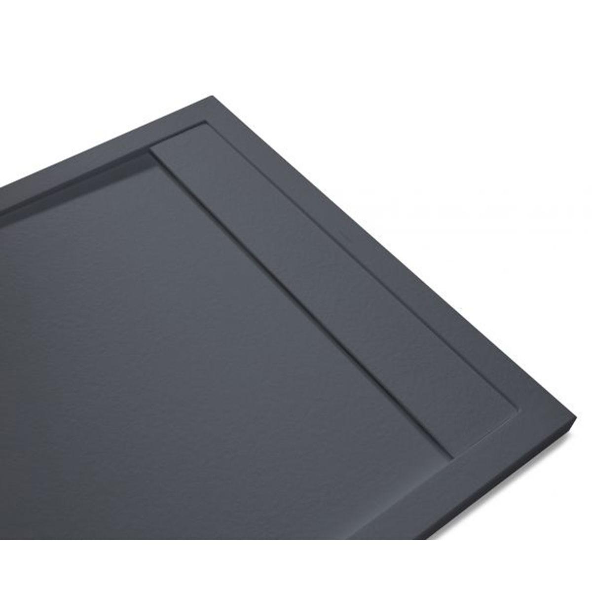 Plato de ducha rectangular 100x80 Andrómeda Stone Cover Basalto