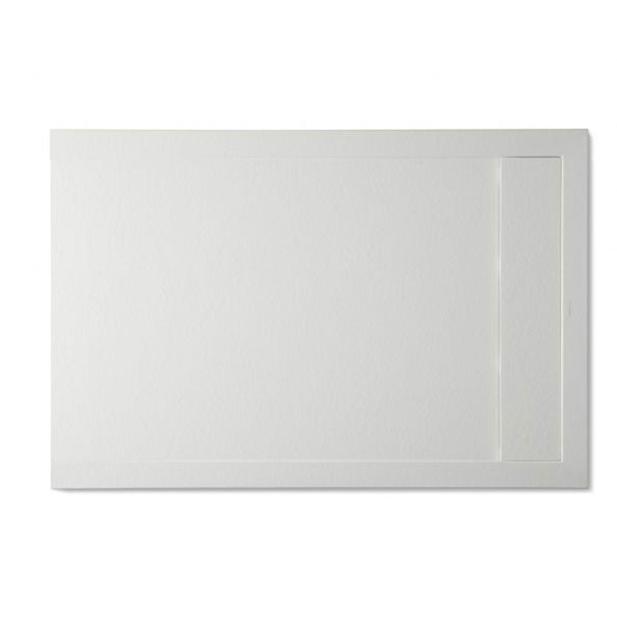 Plato de ducha rectangular 100x80 Andrómeda Stone Cover Blanco