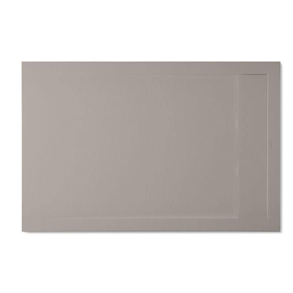 Plato de ducha rectangular 100x80 Andrómeda Stone Cover Fango