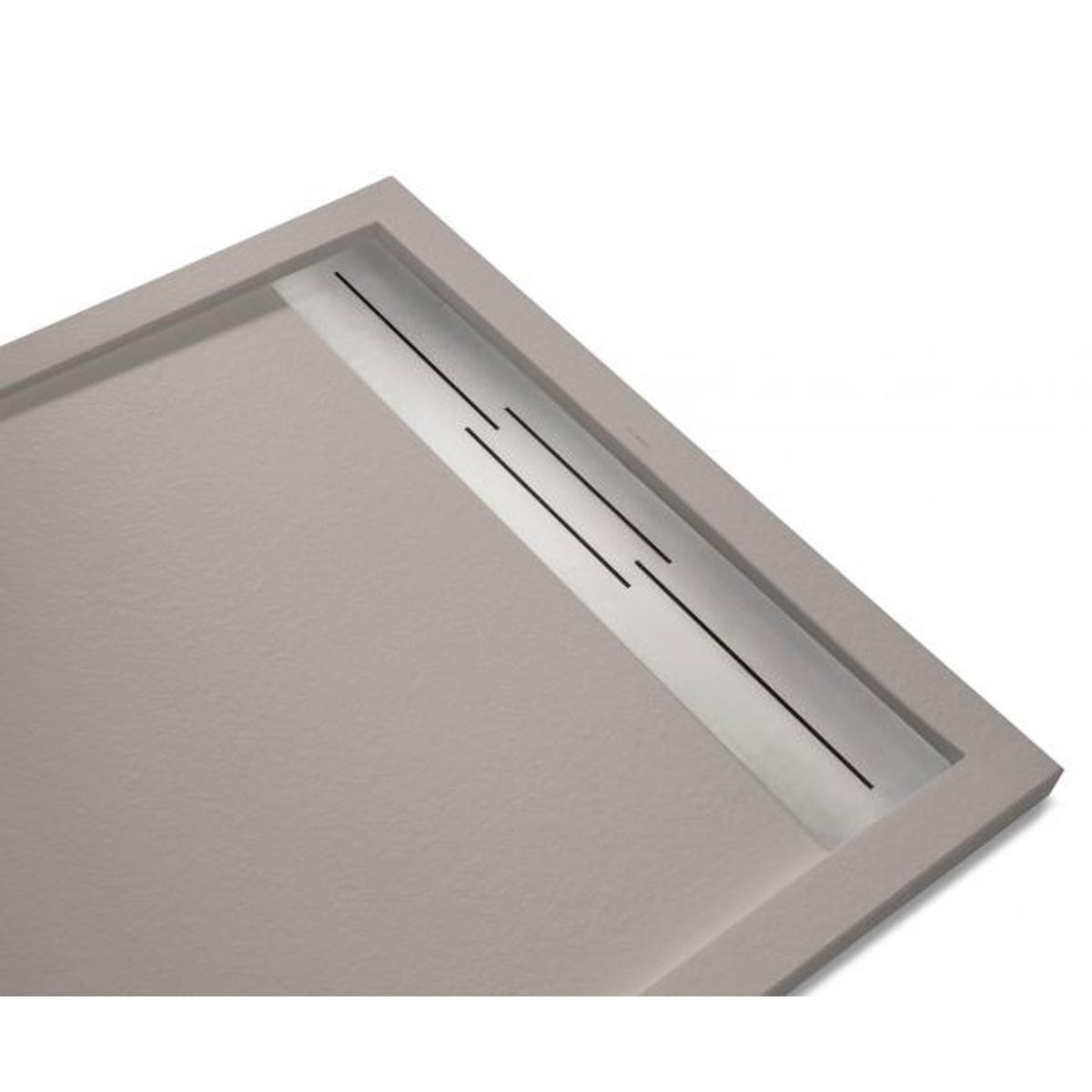 Plato de ducha rectangular 100x80 Andrómeda Stone Cover Nox R1 Fango