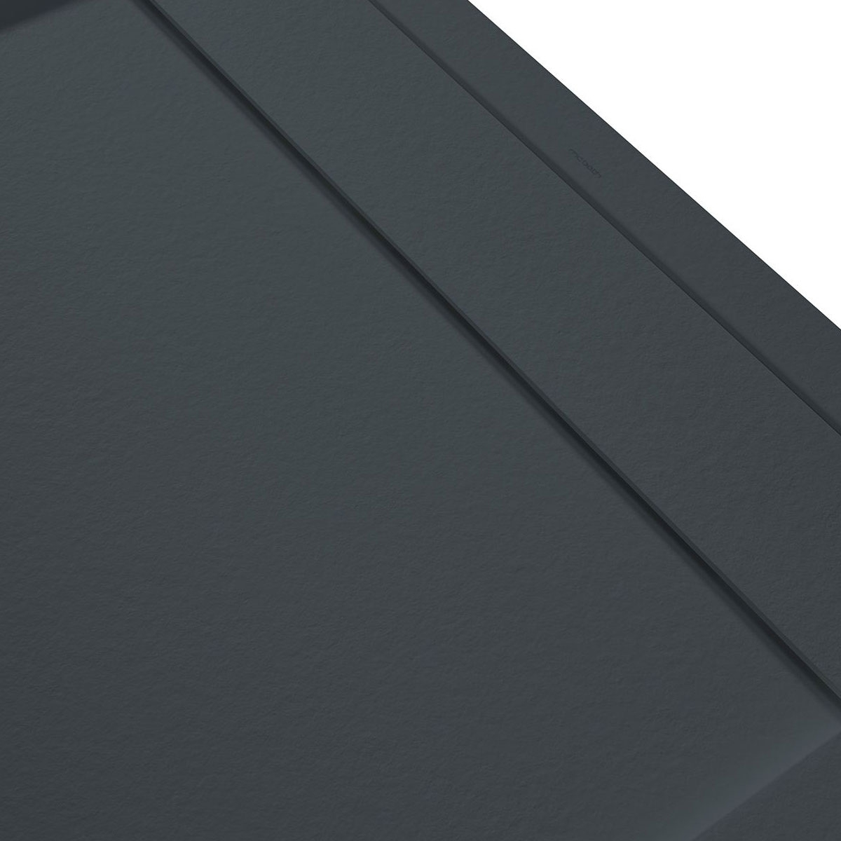 Plato de ducha rectangular 100x80 Andrómeda Stone Cover Antracita