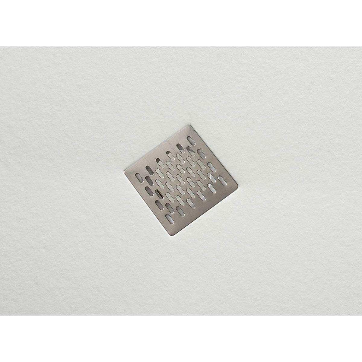 Plato de ducha rectangular 100x80 Ares Stone Nox Rectangular Blanco
