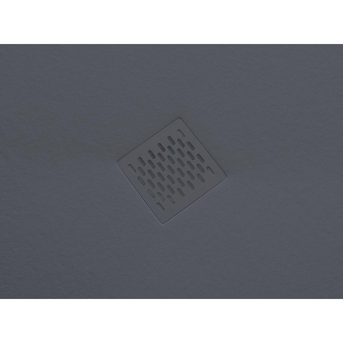 Plato de ducha rectangular 100x80 Ares Stone Nox Basalto