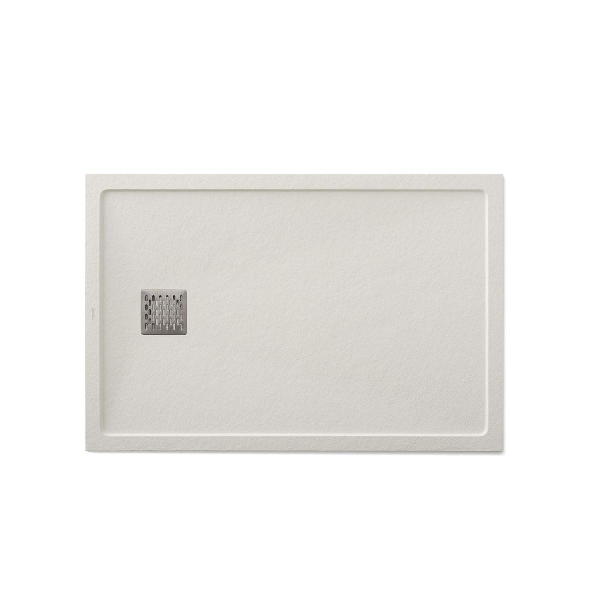 Plato de ducha rectangular 120x80 Ares Stone Nox Marfil