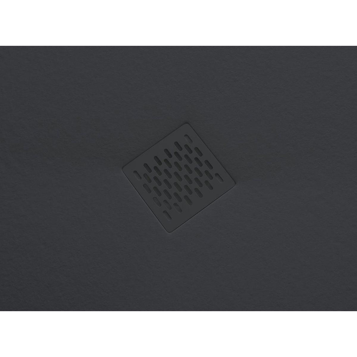 Plato de ducha rectangular 120x80 Ares Stone Nox Grafito