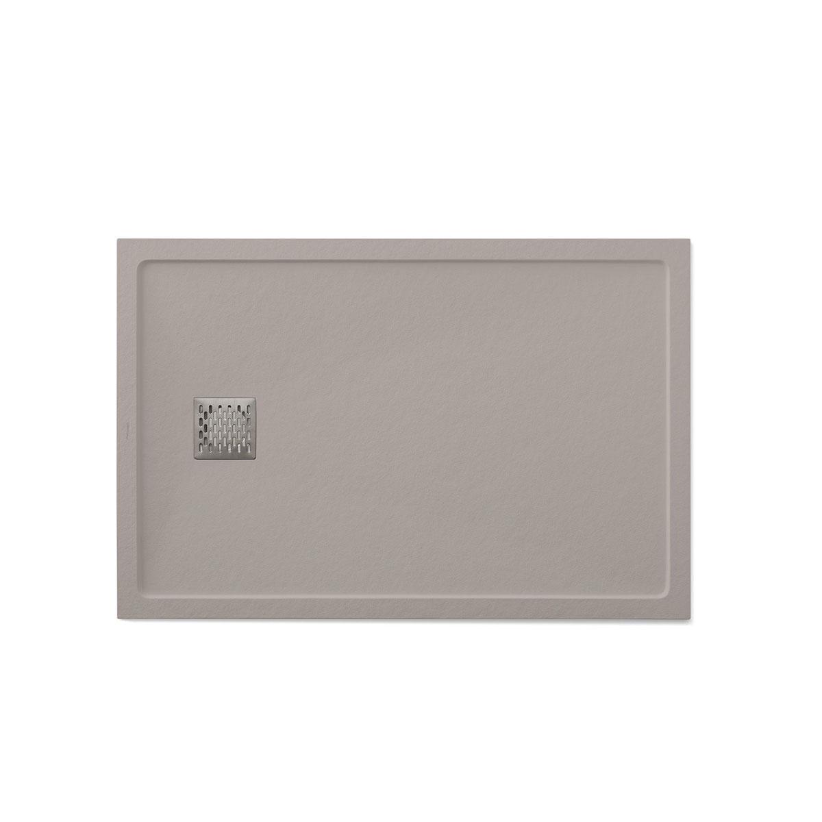 Plato de ducha rectangular 120x80 Ares Stone Nox Fango