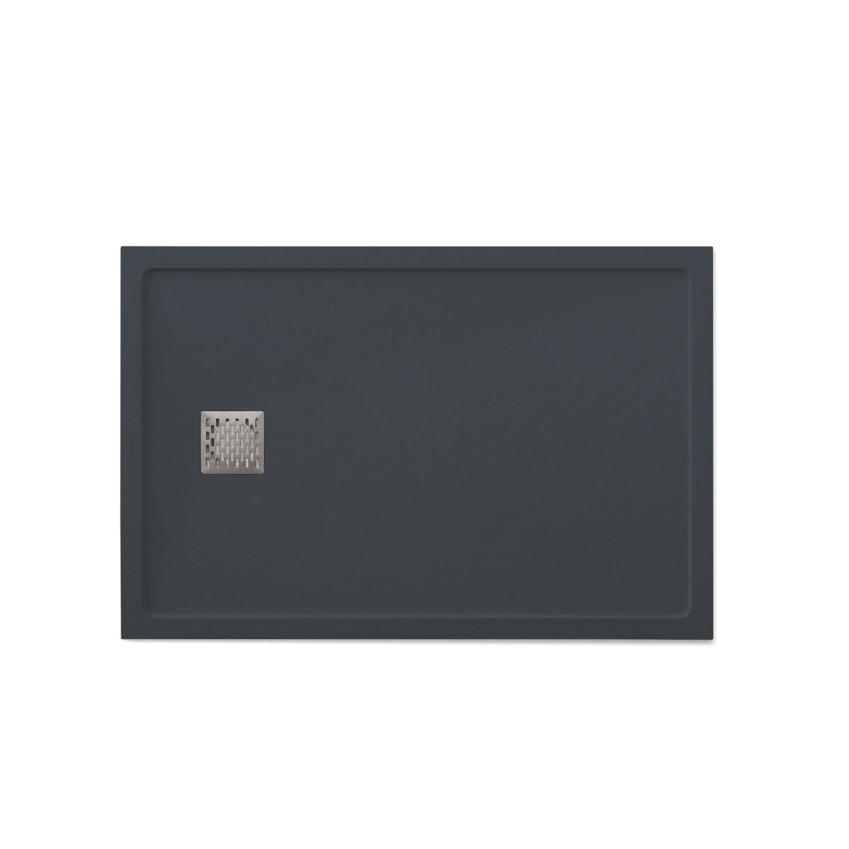 Plato de ducha rectangular 120x80 Ares Stone Nox Antracita