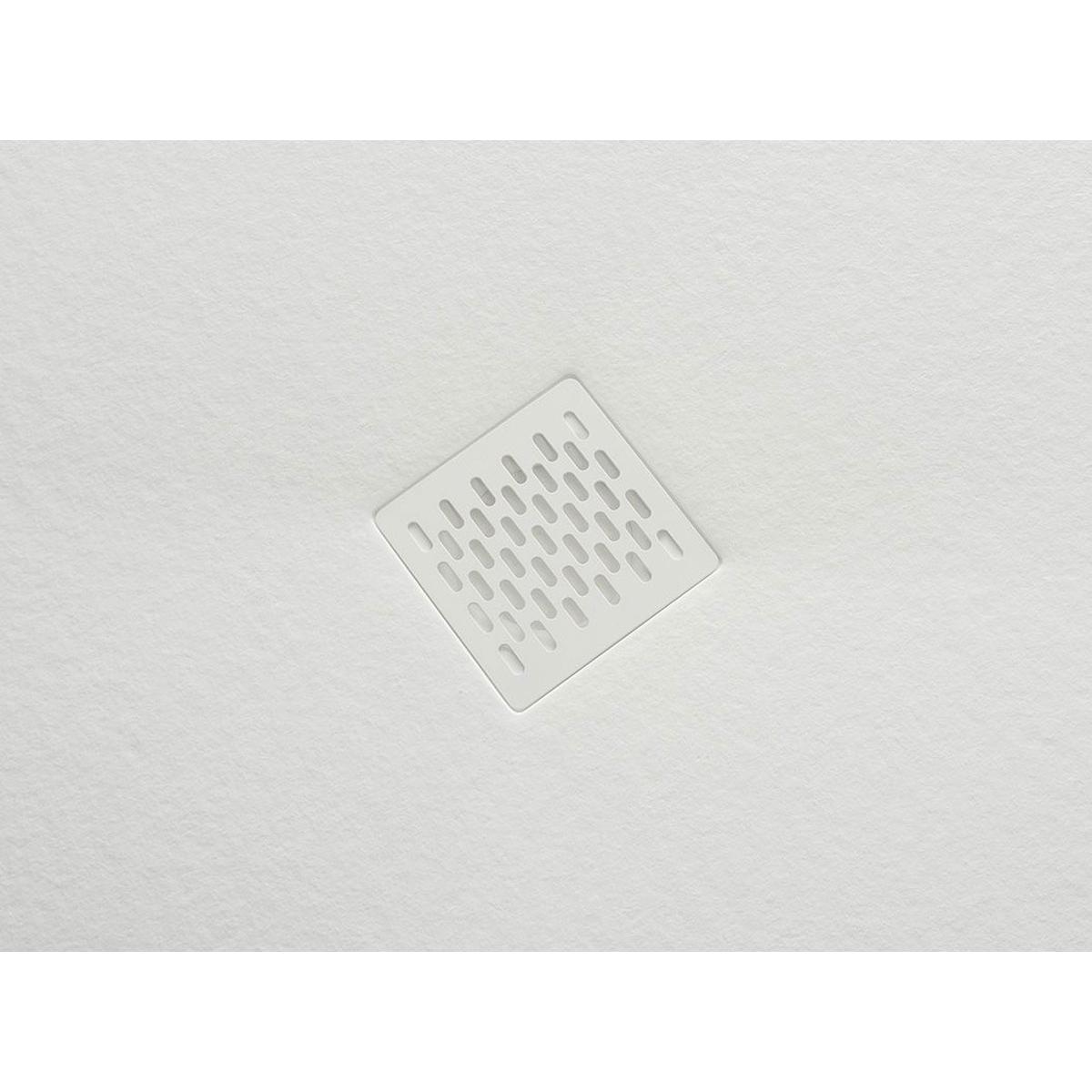 Plato de ducha rectangular 100x80 Coliseo Stone Nox Blanco