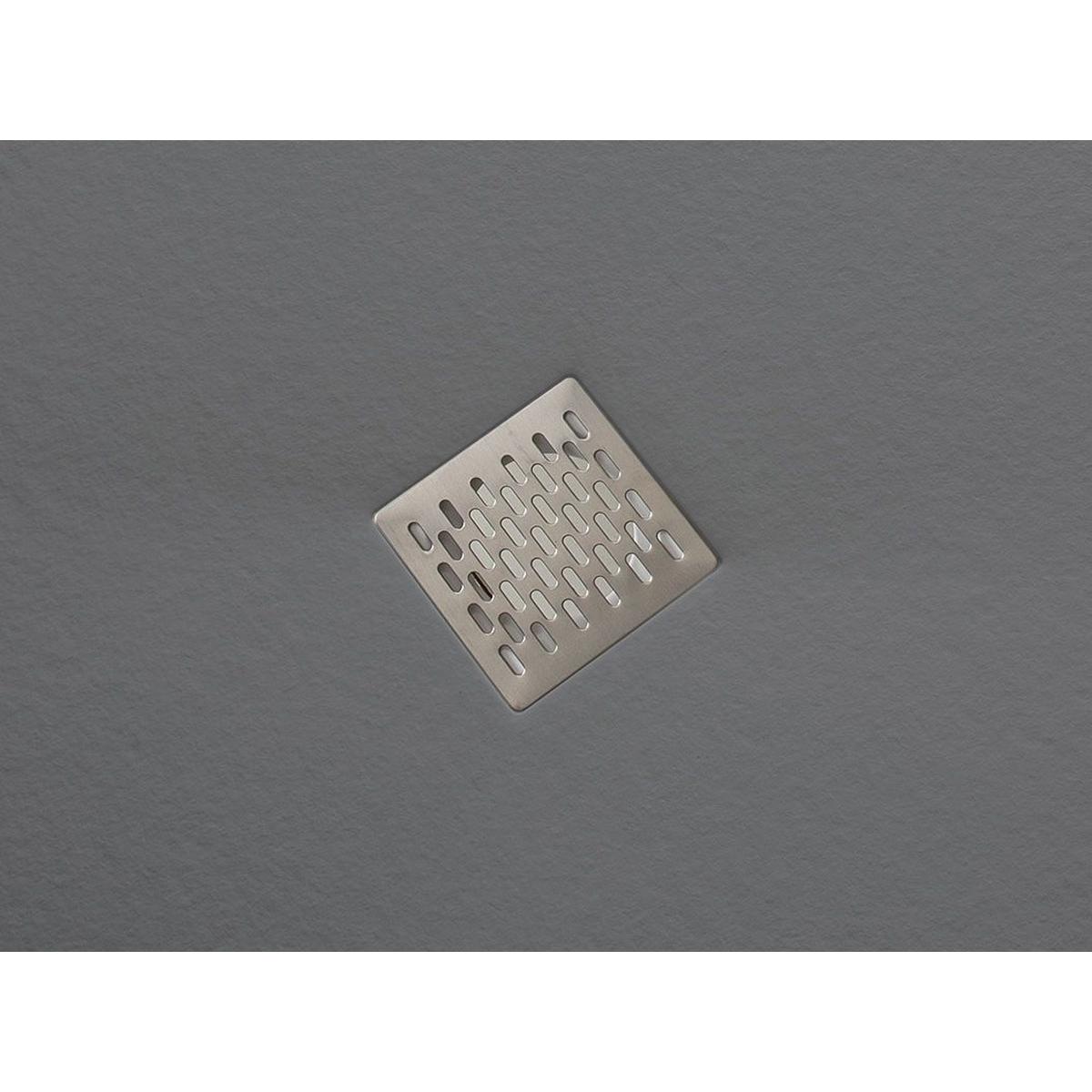 Plato de ducha rectangular 100x80 Coliseo Stone Nox Cemento